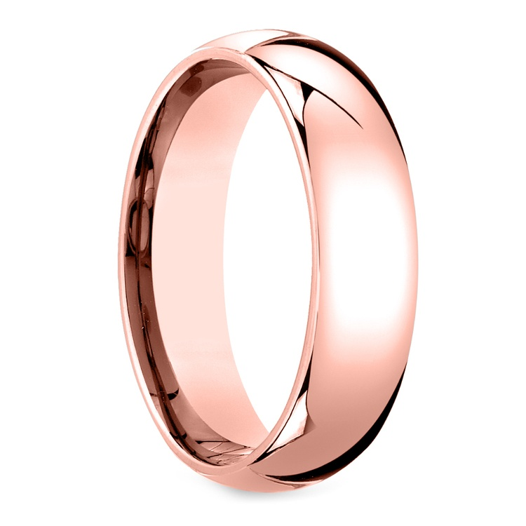 Mid-Weight Men's Wedding Ring in Rose Gold (6mm) | 02
