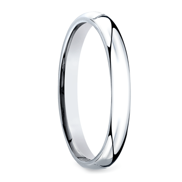 Mid-Weight Men's Wedding Ring in White Gold (3mm) | 02