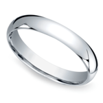 Mid-Weight Men's Wedding Ring in White Gold (4mm) | Thumbnail 01
