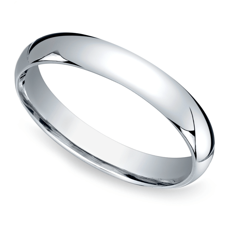 Mid-Weight Men's Wedding Ring in White Gold (4mm) | 01
