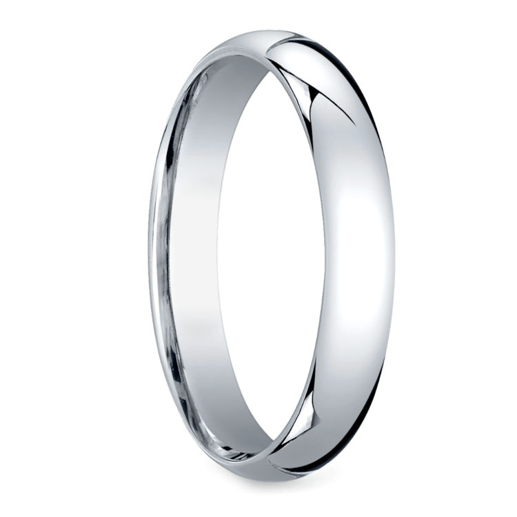 Mid-Weight Men's Wedding Ring in White Gold (4mm) | 02