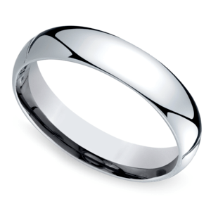 Mid-Weight Men's Wedding Ring in White Gold (5mm)