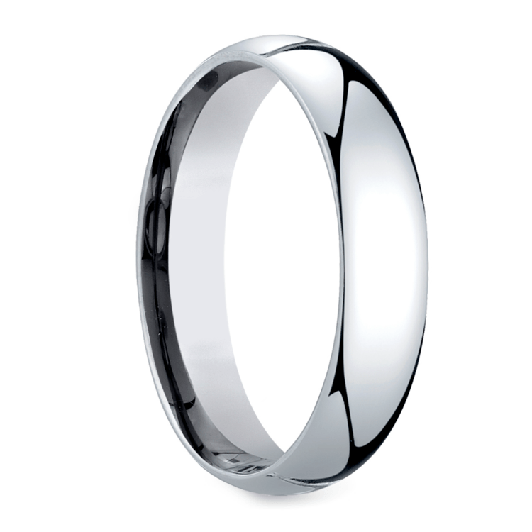 Mid-Weight Men's Wedding Ring in White Gold (5mm) | 02