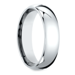 Mid-Weight Men's Wedding Ring in White Gold (6mm) | Thumbnail 02