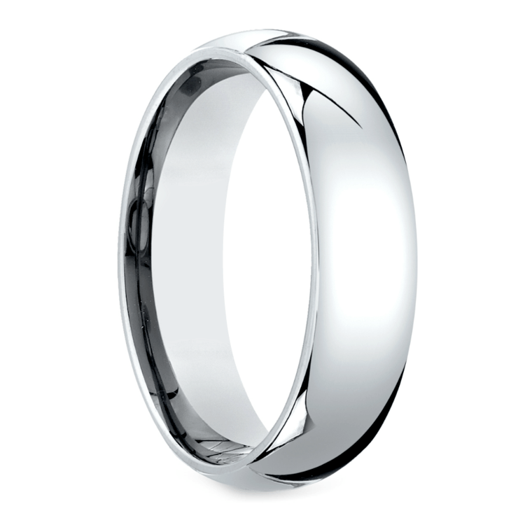 Mid-Weight Men's Wedding Ring in White Gold (6mm) | 02