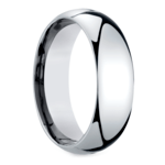 Mid-Weight Men's Wedding Ring in White Gold (7mm) | Thumbnail 02