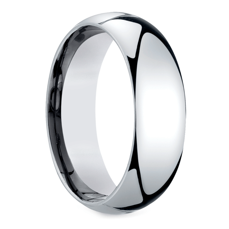 Mid-Weight Men's Wedding Ring in White Gold (7mm) | 02