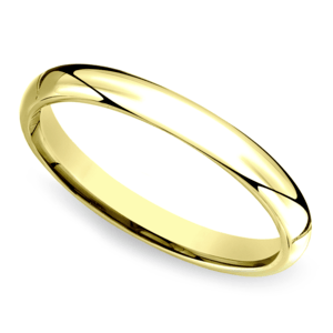 Mid-Weight Men's Wedding Ring in Yellow Gold (3mm)