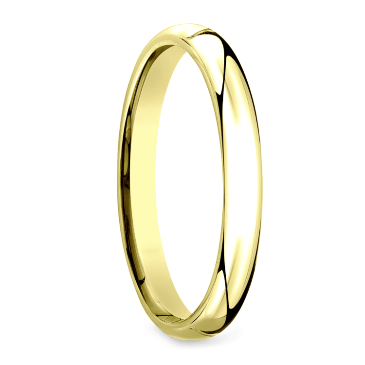 Mid-Weight Men's Wedding Ring in Yellow Gold (3mm) | 02