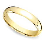Mid-Weight Men's Wedding Ring in Yellow Gold (4mm) | Thumbnail 01