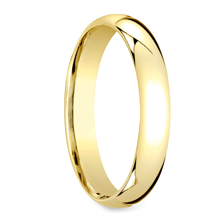 Mid-Weight Men's Wedding Ring in Yellow Gold (4mm) | 02