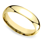 Mid-Weight Men's Wedding Ring in Yellow Gold (5mm) | Thumbnail 01
