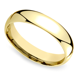 Mid-Weight Men's Wedding Ring in Yellow Gold (5mm)