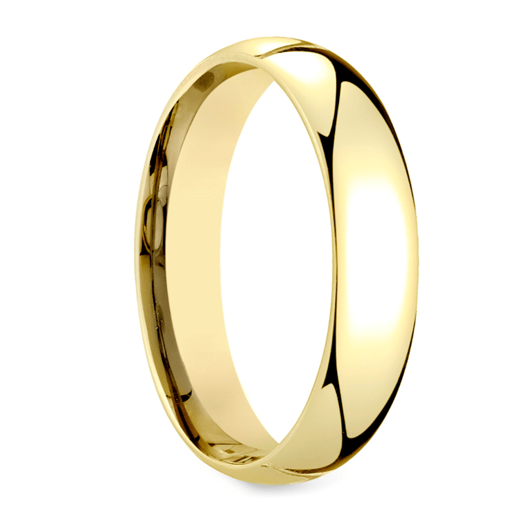 Mid-Weight Men's Wedding Ring in Yellow Gold (5mm) | 02
