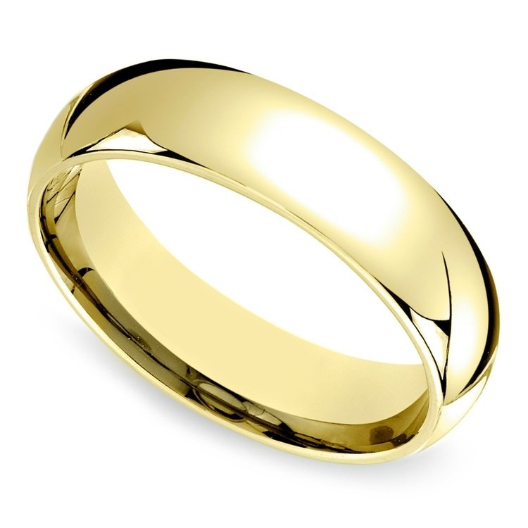 mid weight s wedding ring in yellow gold 6mm