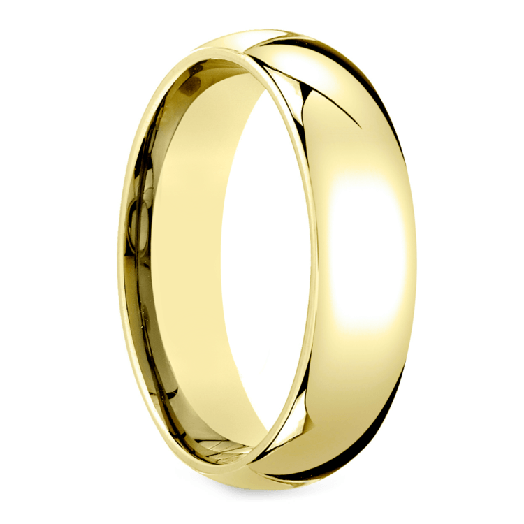Mid-Weight Men's Wedding Ring in Yellow Gold (6mm) | 02