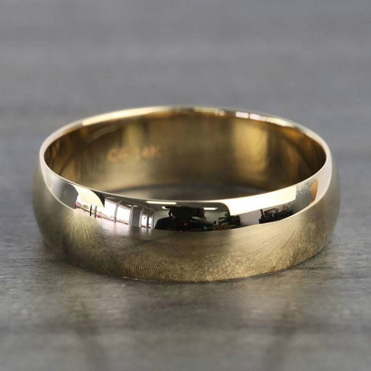 Mid-Weight Men's Wedding Ring in Yellow Gold (6mm) | 03