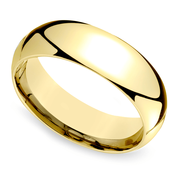 Mid-Weight Men's Wedding Ring in Yellow Gold (7mm) | 01