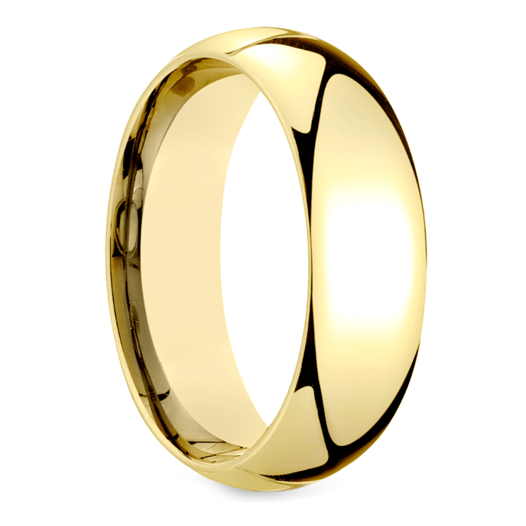 Mid-Weight Men's Wedding Ring in Yellow Gold (7mm) | 02