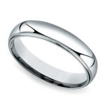 Mid-Weight Milgrain Men's Wedding Ring in Platinum (5mm) | Thumbnail 01