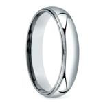 Mid-Weight Milgrain Men's Wedding Ring in Platinum (5mm) | Thumbnail 02