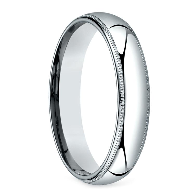 Mid-Weight Milgrain Men's Wedding Ring in Platinum (5mm) | 02