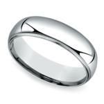 Mid-Weight Milgrain Men's Wedding Ring in Platinum (6mm) | Thumbnail 01