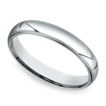 Mid-Weight Milgrain Men's Wedding Ring in Platinum (4mm) | Thumbnail 01