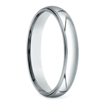Mid-Weight Milgrain Men's Wedding Ring in Platinum (4mm) | Thumbnail 02