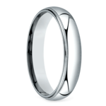 Mid-Weight Milgrain Men's Wedding Ring in White Gold (5mm) | Thumbnail 02