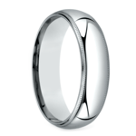 Mid-Weight Milgrain Men's Wedding Ring in White Gold (6mm) | Thumbnail 02