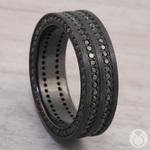 Midnight Express - Zirconium Three-Sided Black Diamond Mens Ring | Thumbnail 04