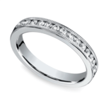Milgrain Channel Diamond Eternity Ring in Platinum | Thumbnail 01