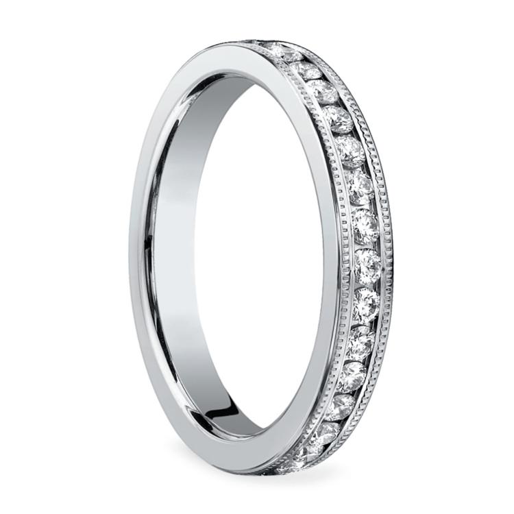 Milgrain Channel Diamond Eternity Ring in Platinum | 02