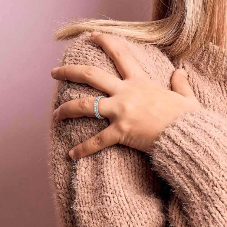 Milgrain Channel Diamond Eternity Ring in Platinum   04