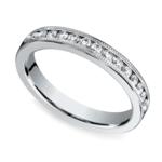 Milgrain Channel Diamond Eternity Ring in White Gold  | Thumbnail 01