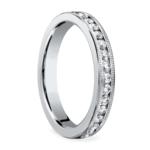 Milgrain Channel Diamond Eternity Ring in White Gold  | Thumbnail 02