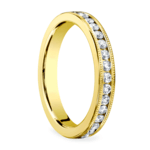 Milgrain Channel Diamond Eternity Ring in Yellow Gold  | Thumbnail 02