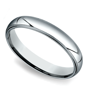 Milgrain Men's Wedding Ring in Palladium (4mm)