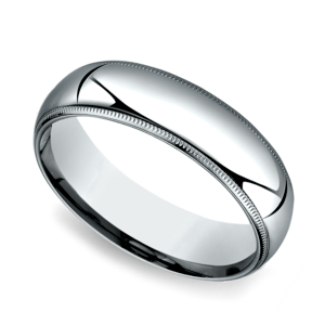 Milgrain Comfort-Fit Men's Wedding Band in Palladium (6mm)