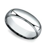 Milgrain Comfort-Fit Men's Wedding Band in Platinum (6mm) | Thumbnail 01