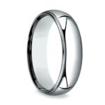 Milgrain Comfort-Fit Men's Wedding Band in Platinum (6mm) | Thumbnail 02