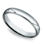 Milgrain Men's Wedding Ring in White Gold (4mm) | Thumbnail 01
