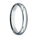 Milgrain Men's Wedding Ring in White Gold (4mm) | Thumbnail 02