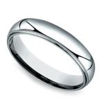 Milgrain Men's Wedding Ring in White Gold (5mm) | Thumbnail 01