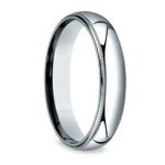 Milgrain Men's Wedding Ring in White Gold (5mm) | Thumbnail 02