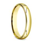 Milgrain Men's Wedding Ring in Yellow Gold (4mm) | Thumbnail 02