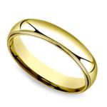 Milgrain Men's Wedding Ring in Yellow Gold (5mm) | Thumbnail 01