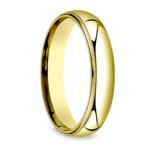 Milgrain Men's Wedding Ring in Yellow Gold (5mm) | Thumbnail 02