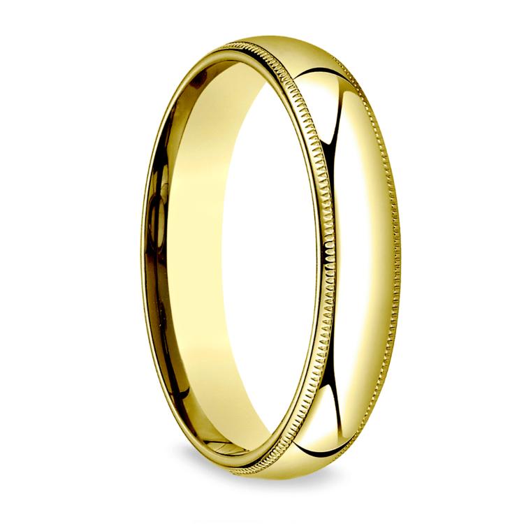Milgrain Men's Wedding Ring in Yellow Gold (5mm) | 02
